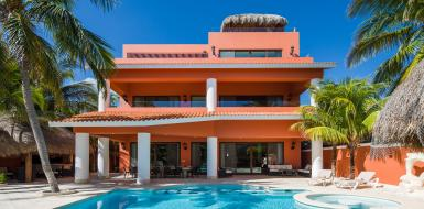 villa lol beh vacation rental oceanfront villa tulum mexico