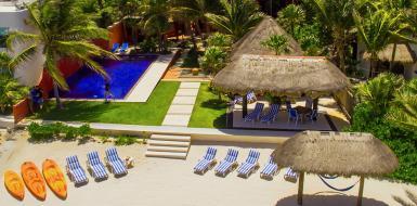 Casa Buena Suerte Oceanfront Villa Tulum Vacation Rental