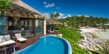 Tulum Beach Villa Miramar For Rent