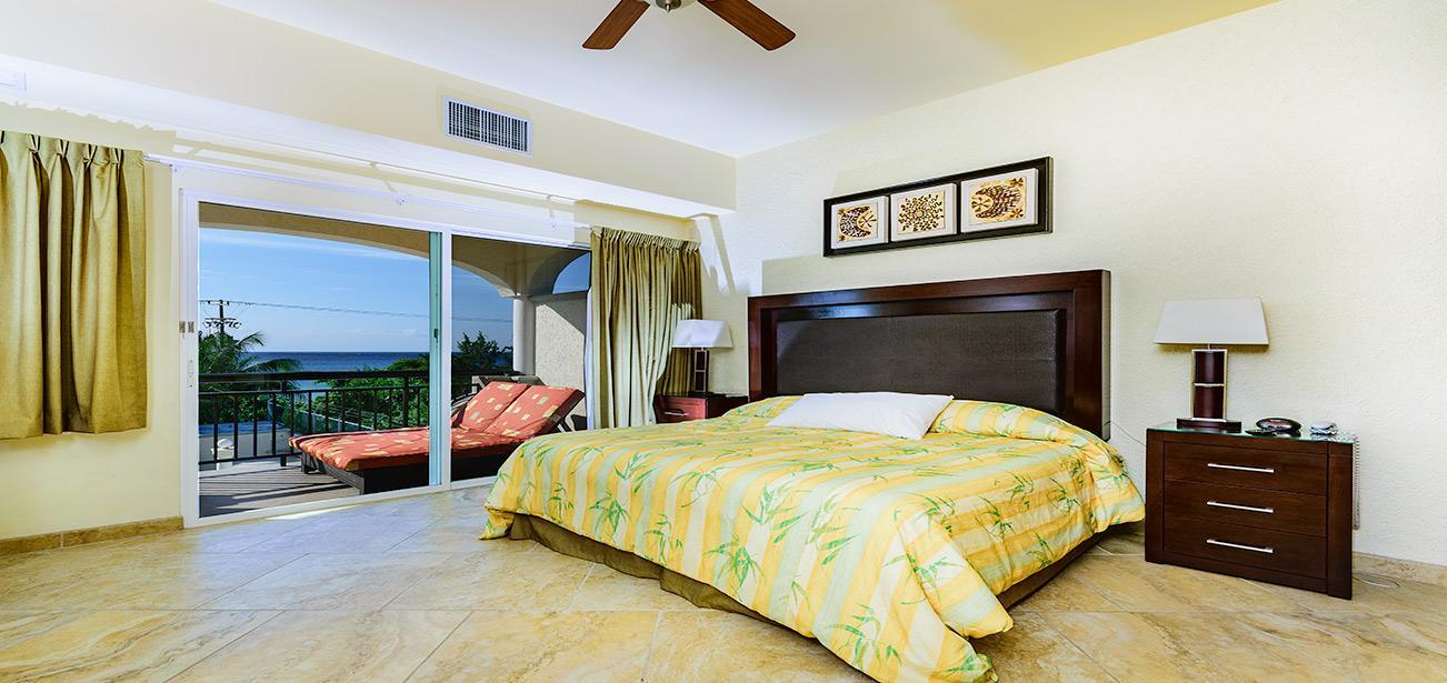 Master Bedroom with Stupendous Oceanviews at Las Uvas Three Bedroom Unit 3