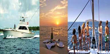 Deep sea fishing tours charters in Riviera Maya, Mexico